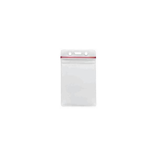 Porte-badge souple transparent Hermétique Modèle vertical PB-0019-V0 (lot de 100) ACPB0019V0
