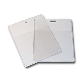 Porte-badge souple transparent grandes cartes (lot de 100) ACPB0018T#