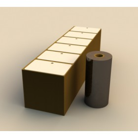 Film cire-résine + badges bristol pour imprimante ZEBRA G420T CART18146005XX CRESCENDO