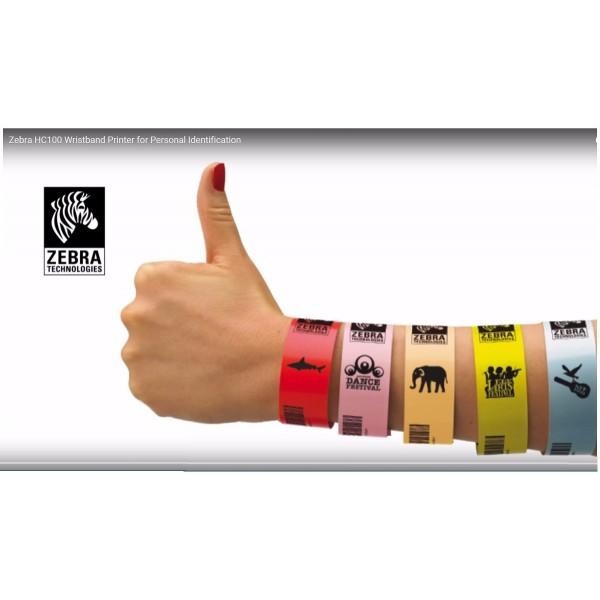 Bracelets ZEBRA pour ZD510HC Z-Band UltraSoft 10015355K ZEBRA