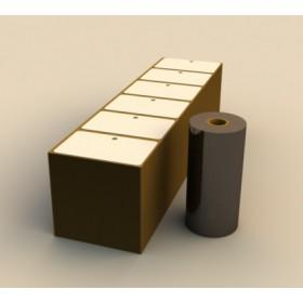 Kit Film cire-résine + badges bristol pour ZEBRA GK420T CART18146005XX CRESCENDO