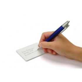 Carte PVC blanche PVC avec verso écriture (lot de 500) 104523117 CRESCENDO